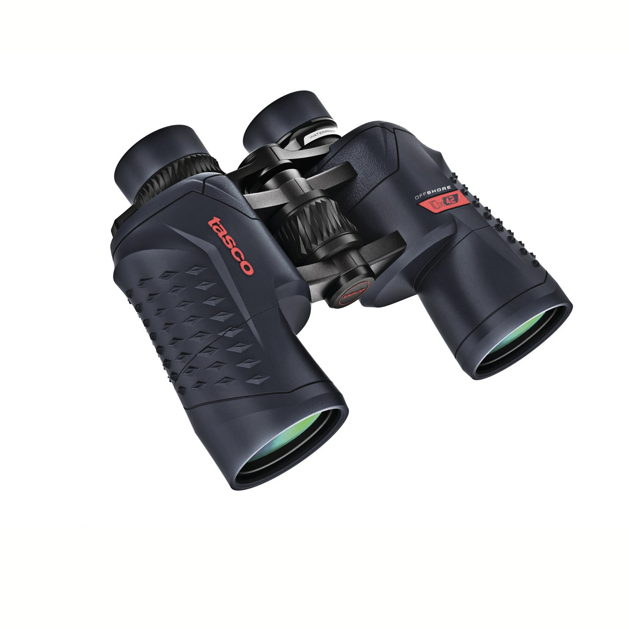 TASCO 10×42 Tasco Off Shore 200142 Binocular BaK-4 Prism, Waterproof, Blue by Tasco