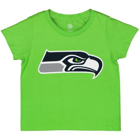 Seattle Seahawks Toddler Team Logo T-Shirt - Neon Green
