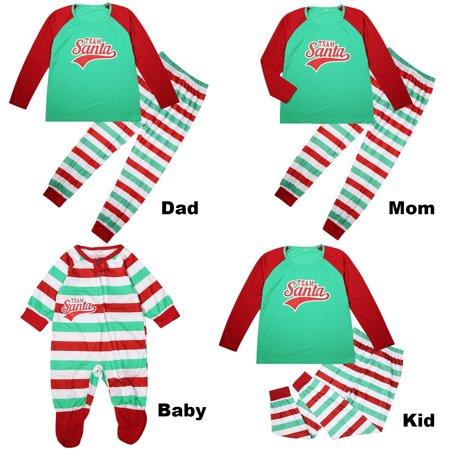 Family Matching Christmas Pajamas Set Santa Letter Print Long Sleeve Tops+ Striped  Pants Sleepwear Parent-Child Outfits - Walmart.com 49e736607
