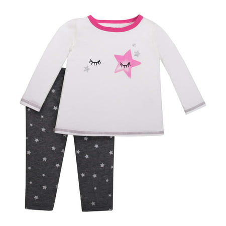 Newborn Baby Girl Long Sleeve Top & Legging 2pc Outfit Set