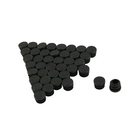 Meubles Table Ronde Chaise en Plastique Forme Insérer Tube Noir 15mm Dia 40 PCS - image 2 de 2