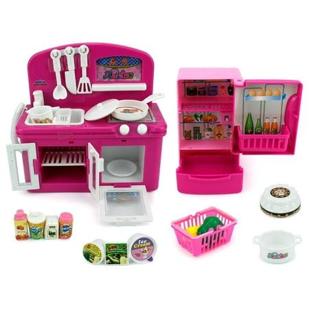 Mini Dream Kitchen Children's Kid's Toy Kitchen Playset w- Accessories