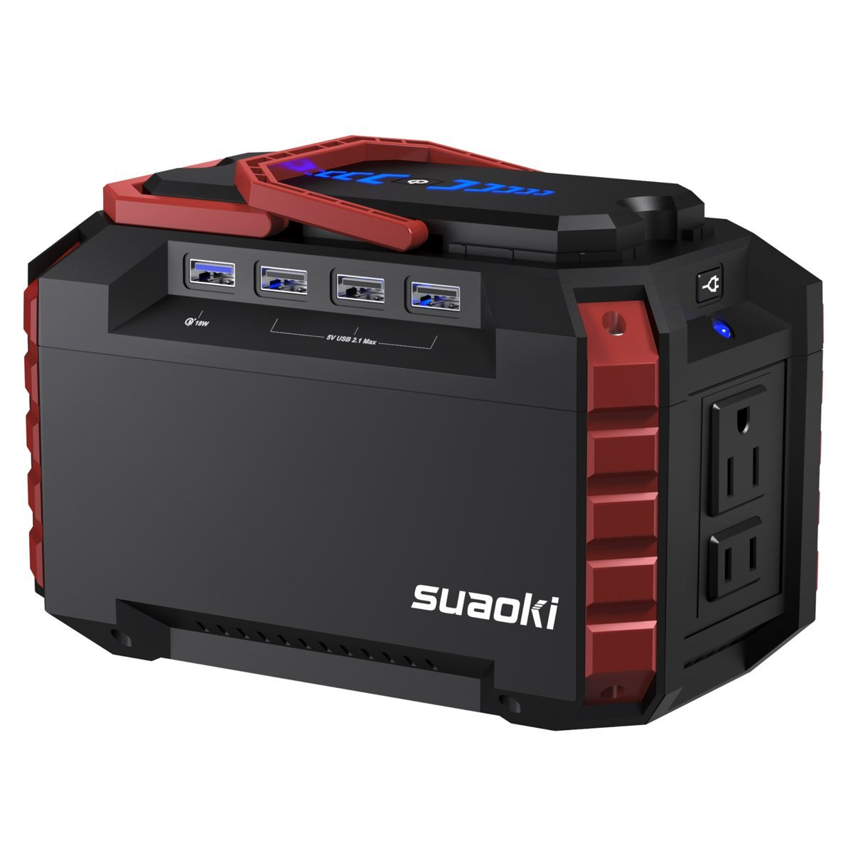 SUAOKI Portable Power Station 150Wh Quiet Gas Free Solar Generator QC3.0 UPS Lithium Power Supply with Dual... by Suaoki