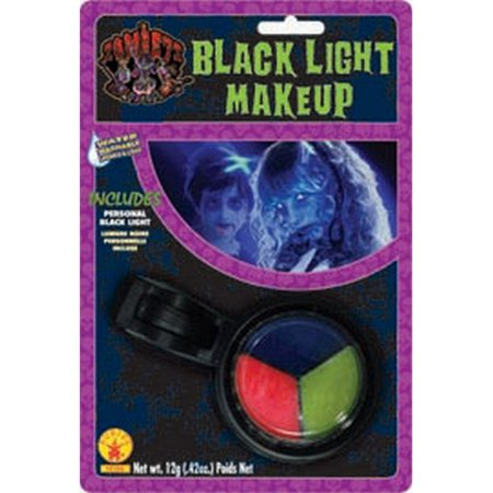 Halloween Zombie Nerd Makeup (Zombie Black Light Makeup Kit UV Halloween Pink Blue Yellow Rave)
