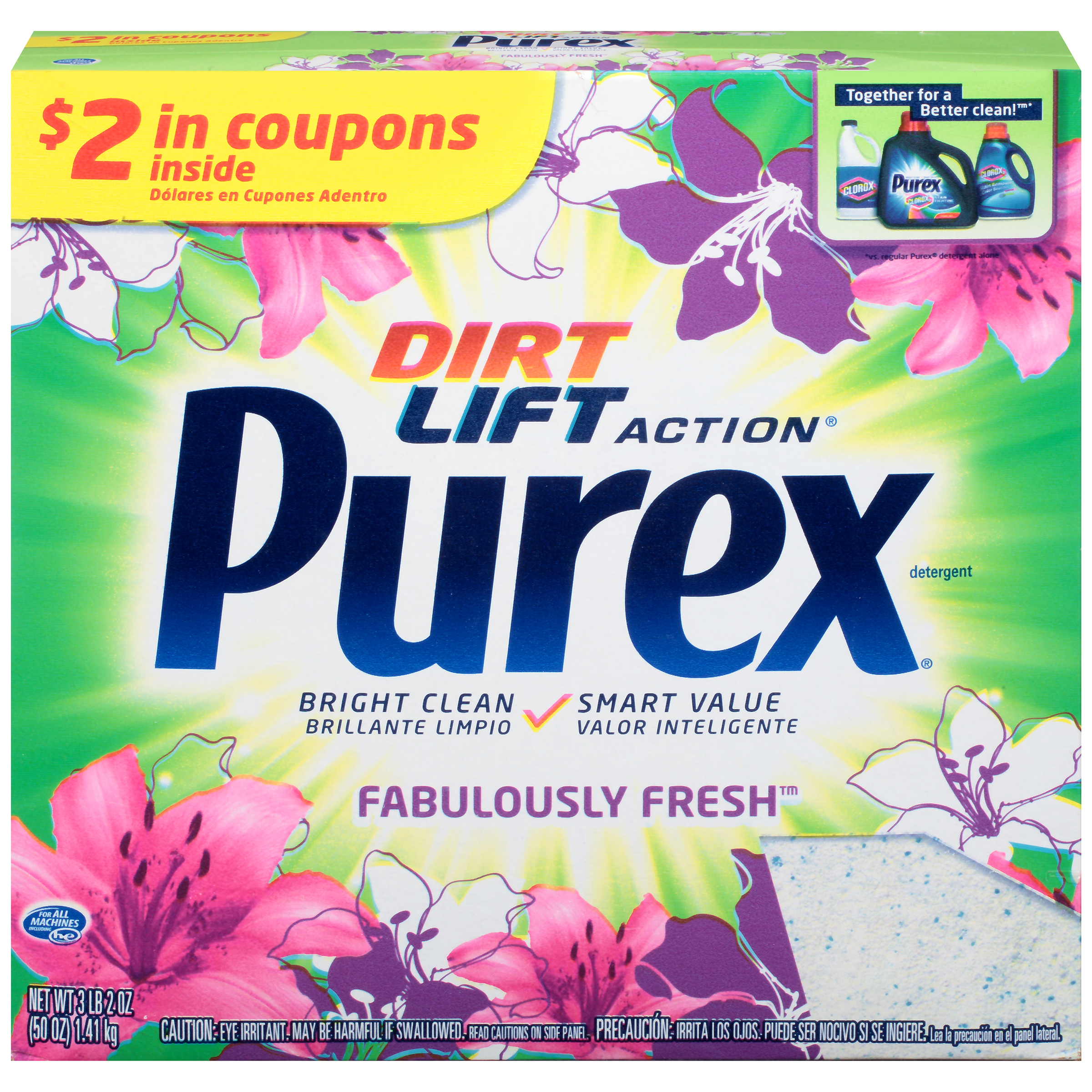 Purex Powder Laundry Detergent, Fabulously Fresh, 50 Ounces