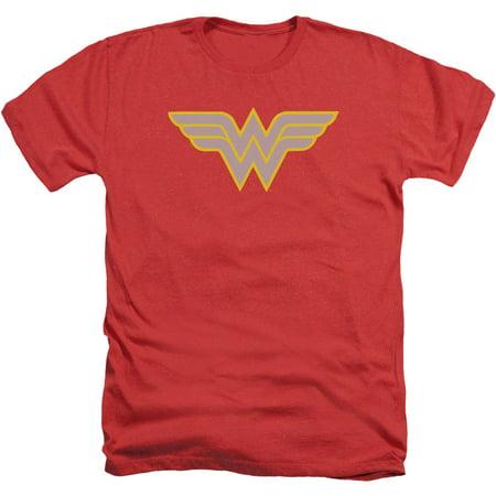 Dc Comics Mens  Ww Logo T Shirt Red