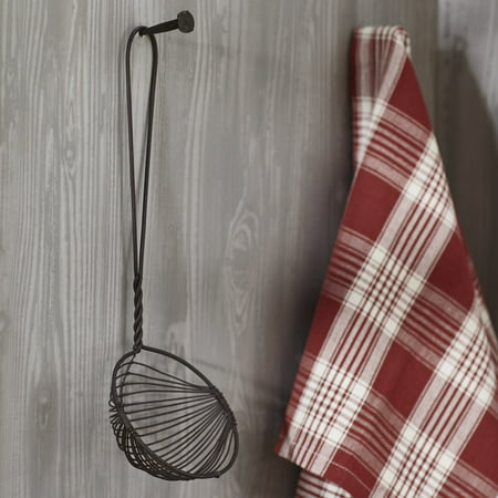 Rust Browny Vintage Wire Ladle Primitive Country Wall Decor - Country Farmhouse Primitive Home Decor Accent for Tabletop, Wall or Shelf (Country Home Accents)