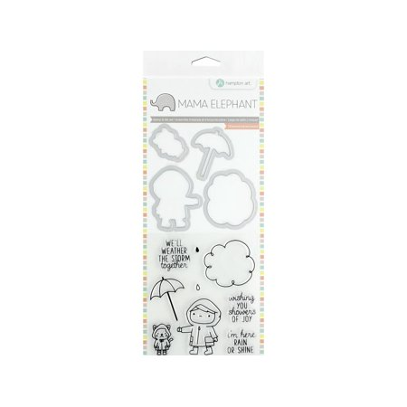 - Mama Elephant Clear Stamp/Die Showers of Joy