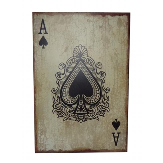 Cheungs Home Indoor Hall Decorative Ace Of Spades Art Wooden Wall Decor