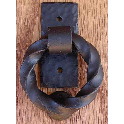 Agave Ironworks Twisted Small Ring Knocker Pull