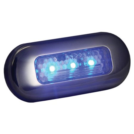 T-H Marine LED-51823-DP LED Oblong Courtesy Lights - Blue