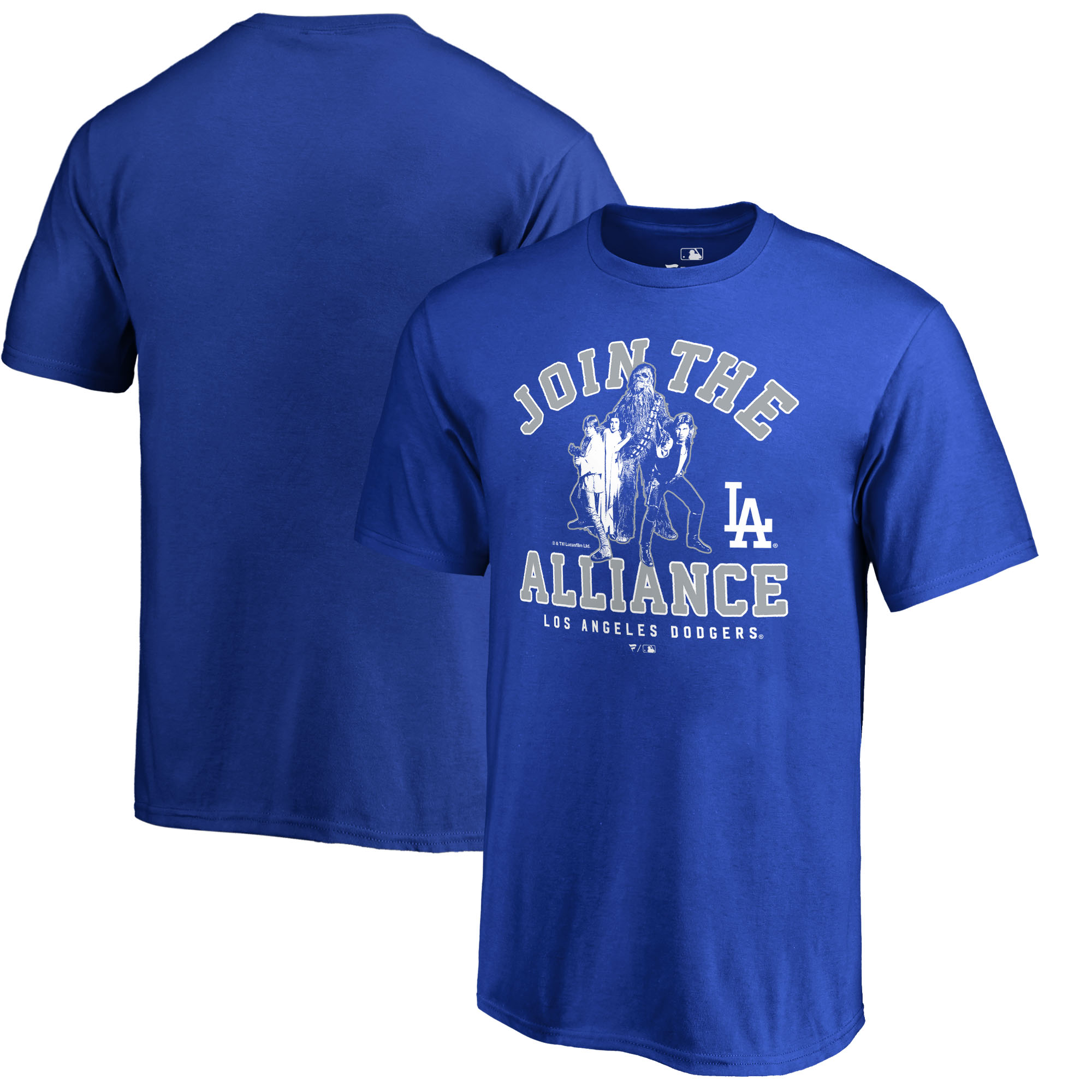 Los Angeles Dodgers Fanatics Branded Youth MLB Star Wars Join The Alliance T-Shirt - Royal