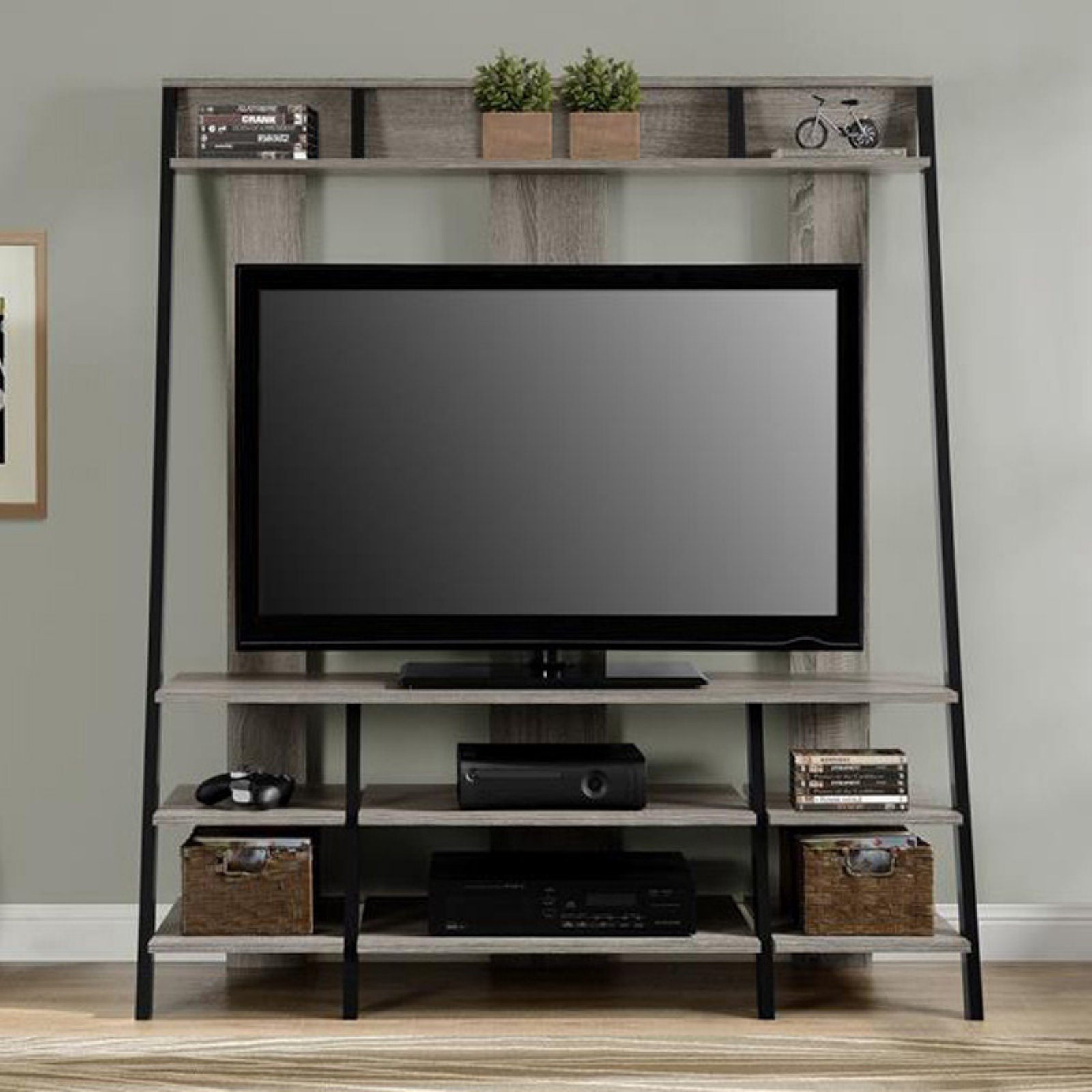 Ameriwood Home Dunnington Ladder Style Home Entertainment Center, Multiple Colors