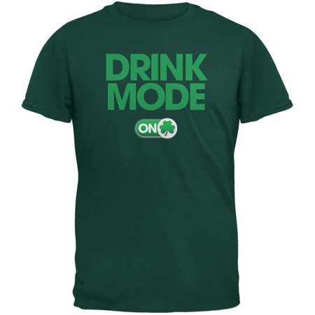 St. Patrick's Day - Drink Mode On Forest Green Adult T-Shirt