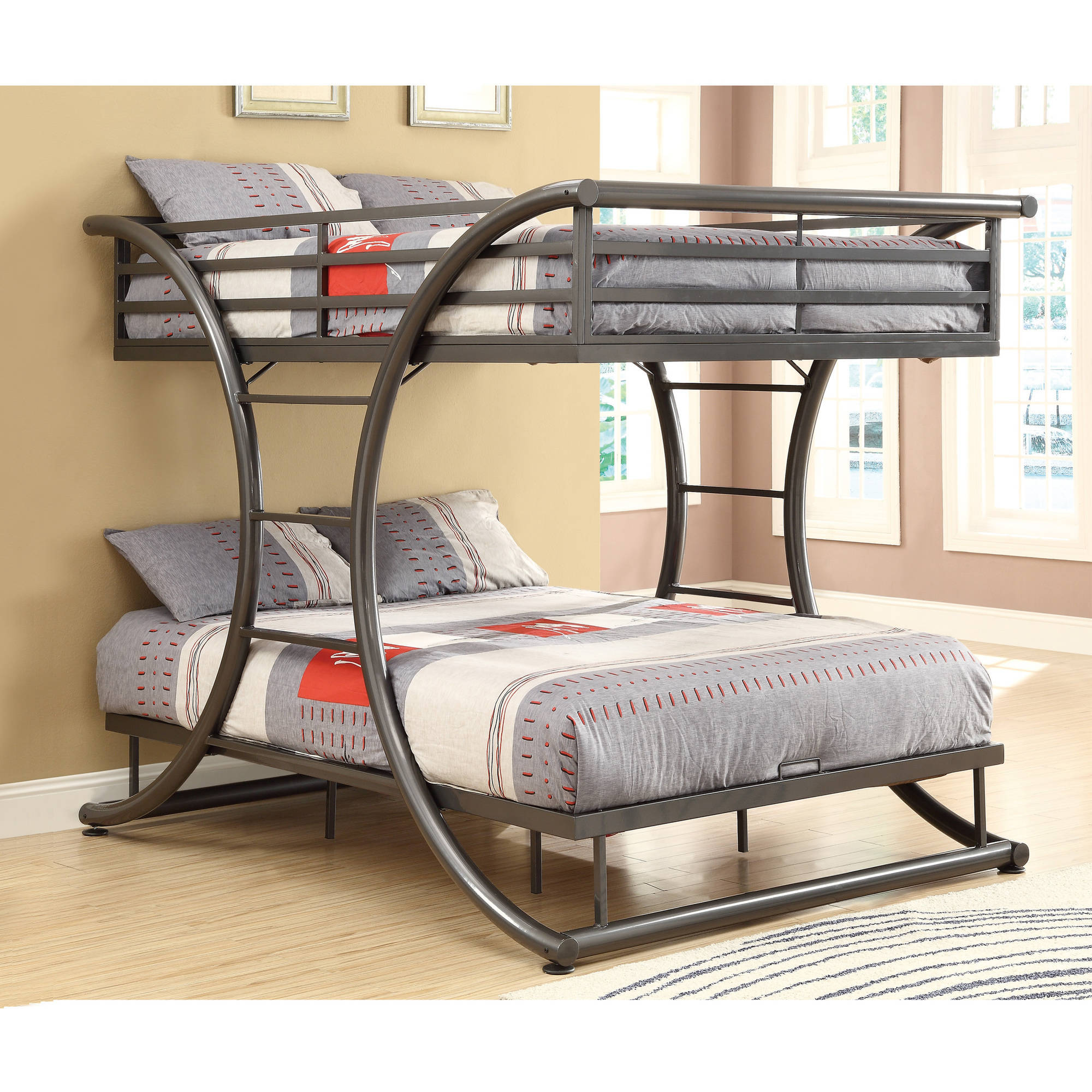 Coaster Full Full Metal Bunk Bed in Dark Metal Finish (Box 1 of 2) by Coaster Company