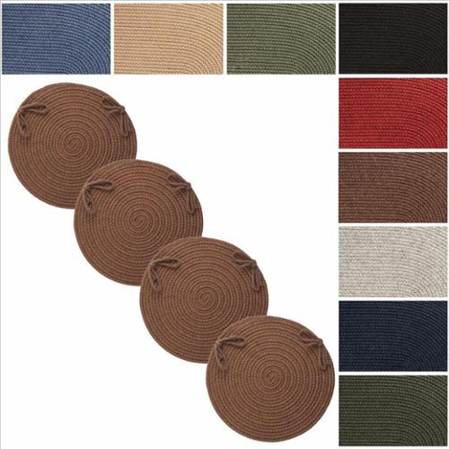 Rhody Rug Woolux Wool Reversible Chair Pads (Set of 4) Grey
