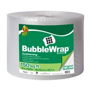 Duck Original Bubble Wrap Cushioning, 12 in. x 150 ft. Roll, Clear