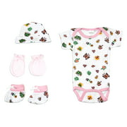 Bambini Newborn Baby Shower Layette Gift Set, 4pc (Baby Girls)