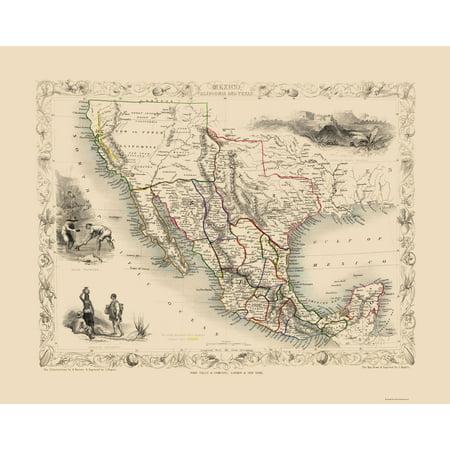 Old North America Map.Old North America Map Mexico California Texas Tallis 1851 23