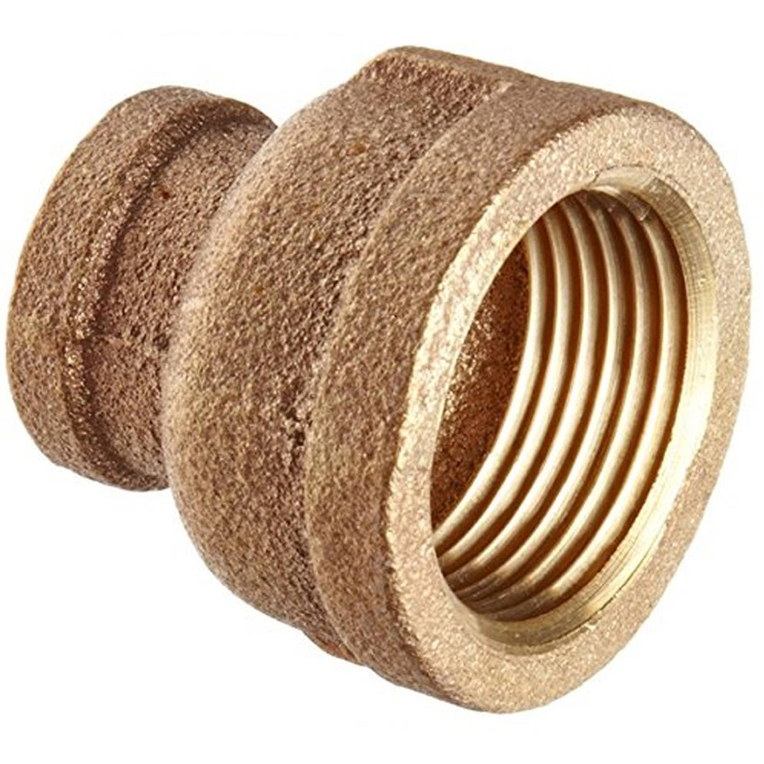 "Everflow Supplies BRRC0140-NL 1/4"" x 1/8"" Brass Reducing Coupling, Lead Free"