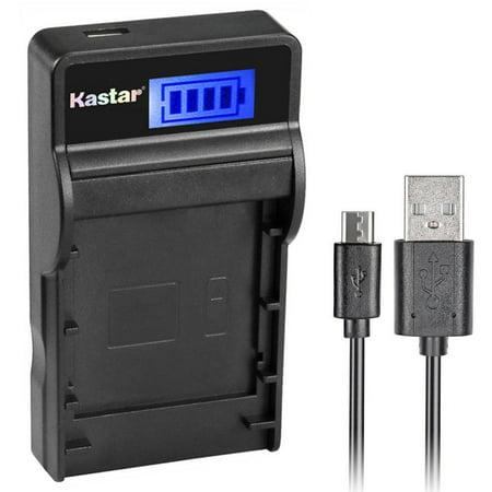 Kastar SLIM LCD Charger for Olympus LI_10B, LI_12B and Olympus Stylus 300, 400, 500, 600, 800, C_50, 60, 70, 470, 760, 770, 5000