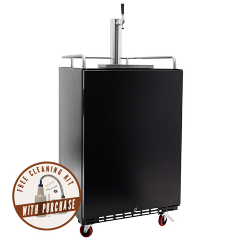 EdgeStar KC7000BL 24 Inch Wide Kegerator for Full Size Kegs with Electronic Cont
