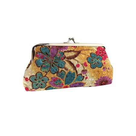 Women's Vintage Floral Clutch Purse Hand Bag Coin Card Holder Long Wallet Latico Vintage Clutch