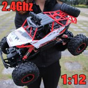 2021 New Updated Remote Control Monster Truck, 2.4Ghz 4WD RC Car Off Road Rock Crawler Vehicle, 1:10/1:14/1:16 High Speed Remote Control Car All Terrain Electric Toy for Boys & Girls Gifts