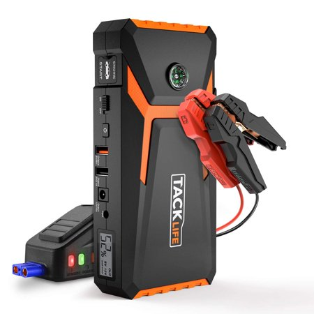 TACKLIFE T8 Car Jump Starter - 800A Peak 18000mAh, 12V Auto Battery Booster  (up to 6 5L gas, 5 5L diesel engine), Portable Power Pack with Smart