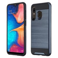 Brushed Coated Hybrid Armor Case for Samsung Galaxy A50 / A20 - Ink Blue