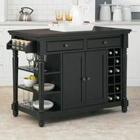 Home Styles Grand Torino Kitchen Island, Black