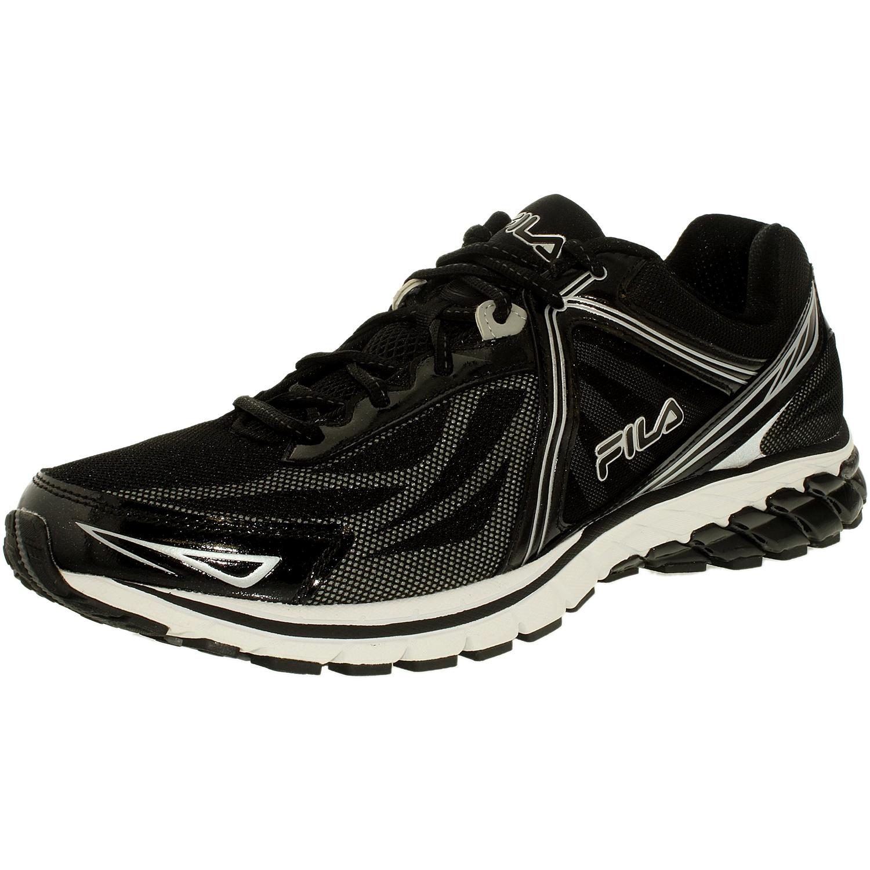 Fila Men's Finix 2 Energized Black Black Metallic Silver Low Top Walking Shoe 13M by Fila