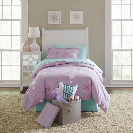 Lullaby Bedding  Butterfly Garden Cotton Printed 4-piece Comforter Set