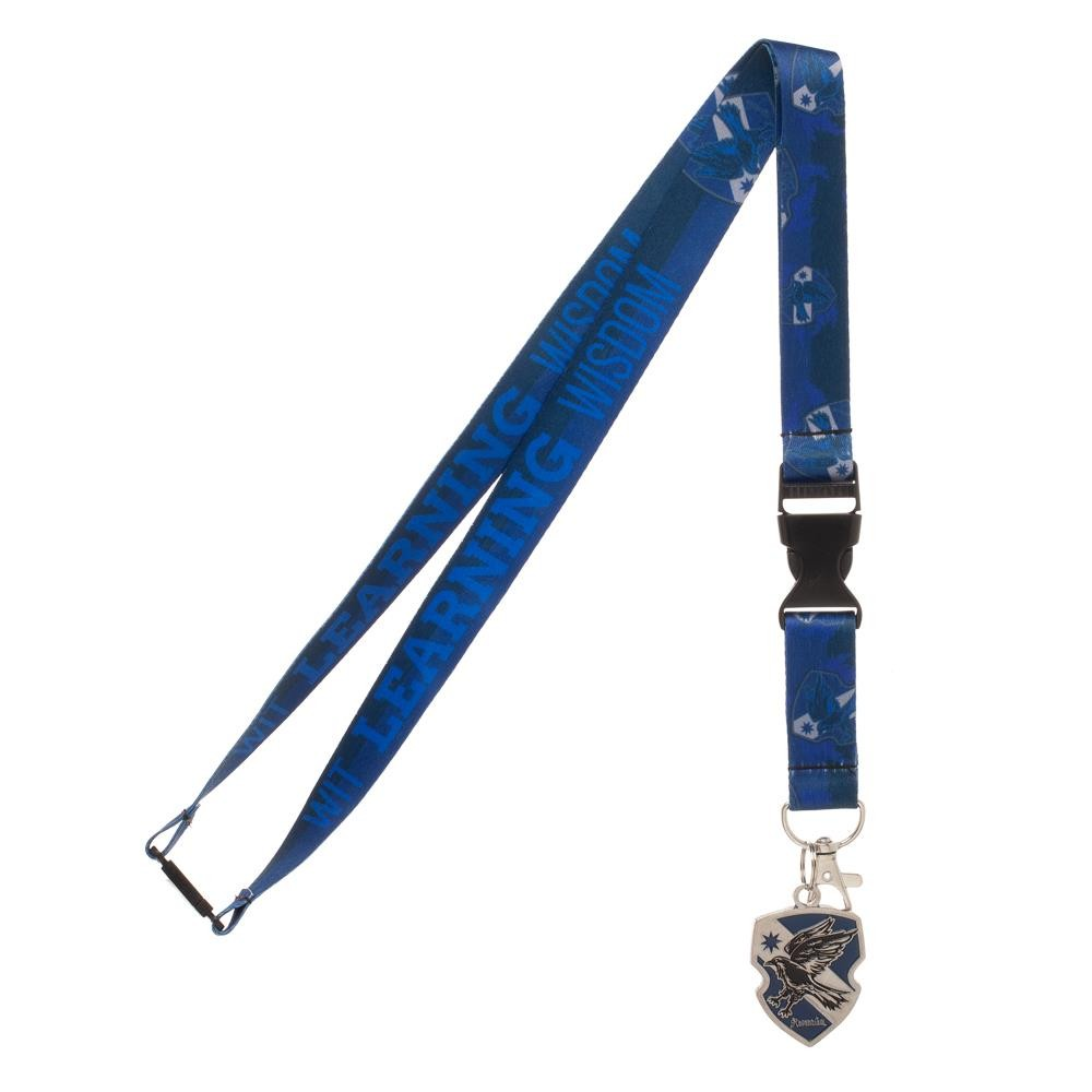 Harry Potter Ravenclaw Traits Lanyard with, Collectible Sticker, ID Badge Holder & Metal Crest Charm