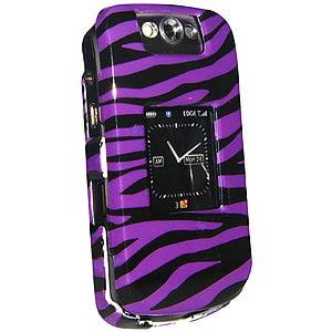 Premium Zebra Print Purple Snap On Hard Shell Case for BlackBerry Pearl 8230, BlackBerry Pearl 8220