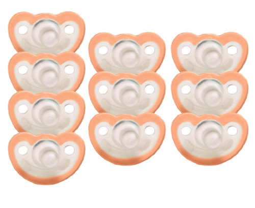 JollyPop 0-3 Months Pacifier 10 Pack Unscented Orange by JollyPop