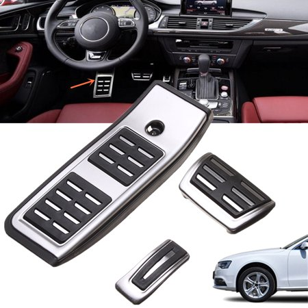 for audi a4 b9 sedan avant 2016 2017 automatic brake foot sport pedal cap kit. Black Bedroom Furniture Sets. Home Design Ideas