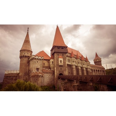 LAMINATED POSTER Castle Transylvania Hunedoara Fortress Medieval Poster Print 24 x 36 - Medieval Castle Decorations