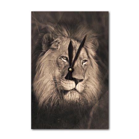 Lion Face - Lantern Press Photography (Acrylic Wall Clock)
