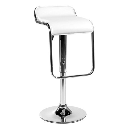 Euro Style Furgus Adjustable Bar Stool - White