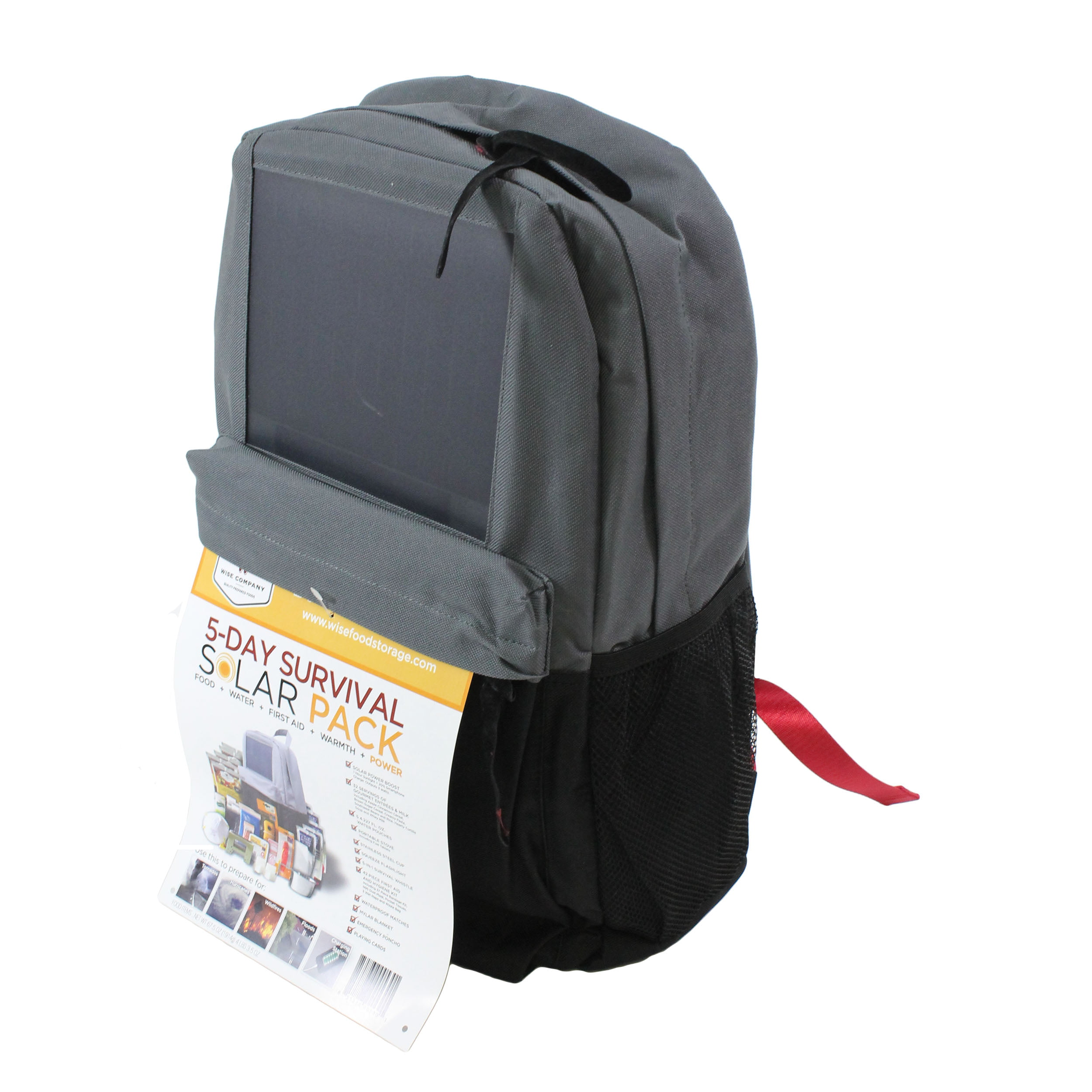 Wise Solar Backpack + 5 Day Survival Kit by Wise Company