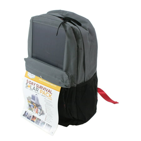 Wise Solar Backpack + 5 Day Survival Kit