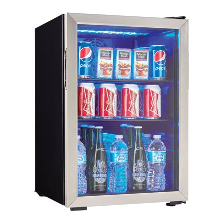 Danby 2.6 Cubic Foot Beverage Center with Stainless Trim - Beverage Center Left Hinge