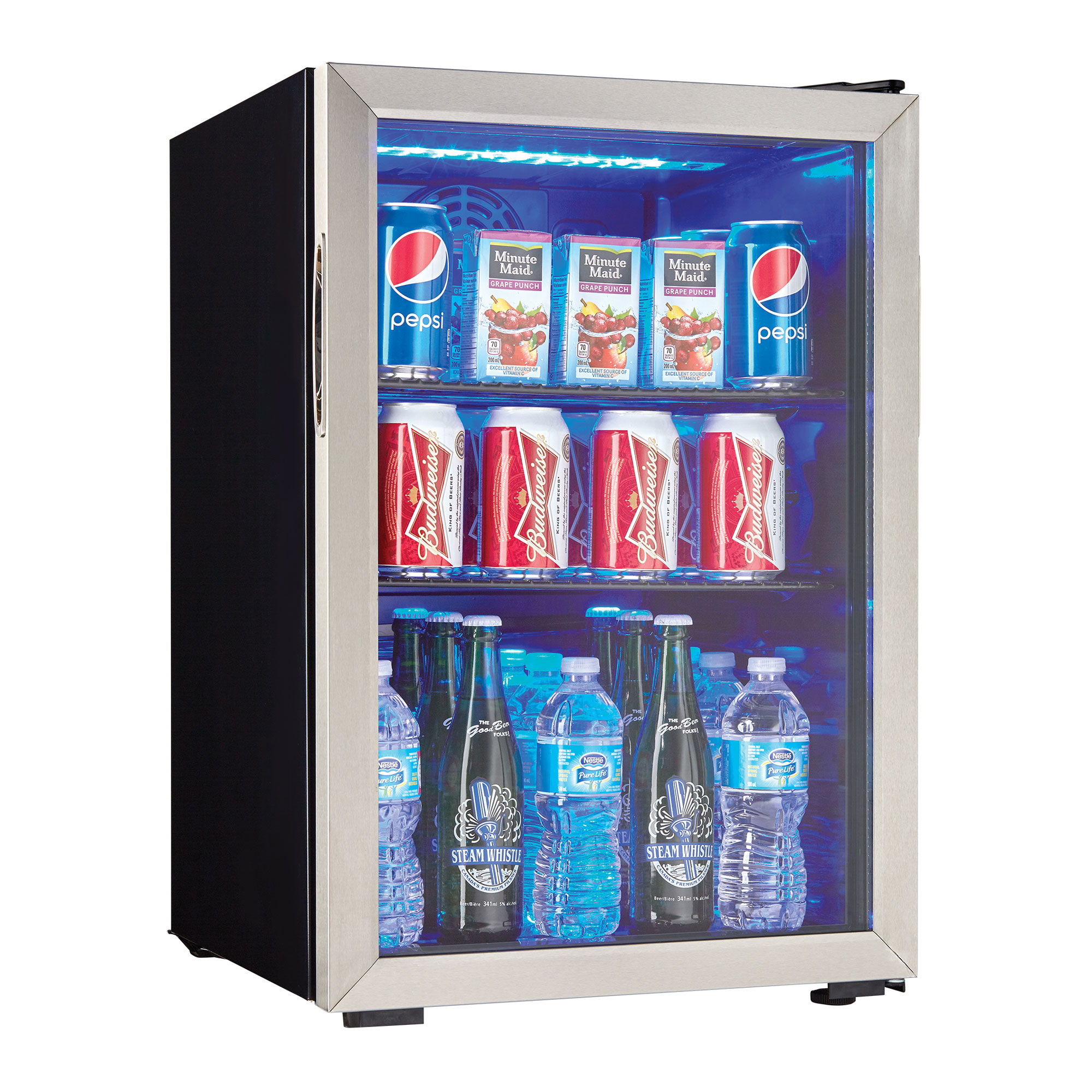 Danby 95 Can 2.6 Cu. Ft. Free Standing Beverage Center Mini Fridge