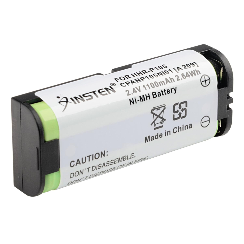 Insten Cordless Phone Battery for Panasonic HHR-P105 HHR-P105A HHRP105 TYPE 31 1100mAh