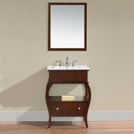 Virtu 39 Hilary 39 26 Inch Single Sink Bathroom Vanity 26 Inch Espresso