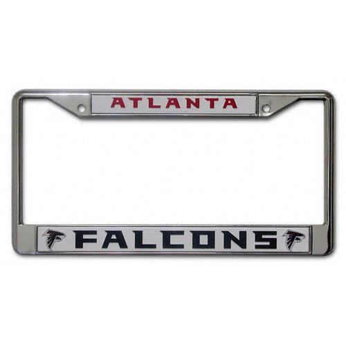 NFL - Atlanta Falcons White Chrome License Plate Frame