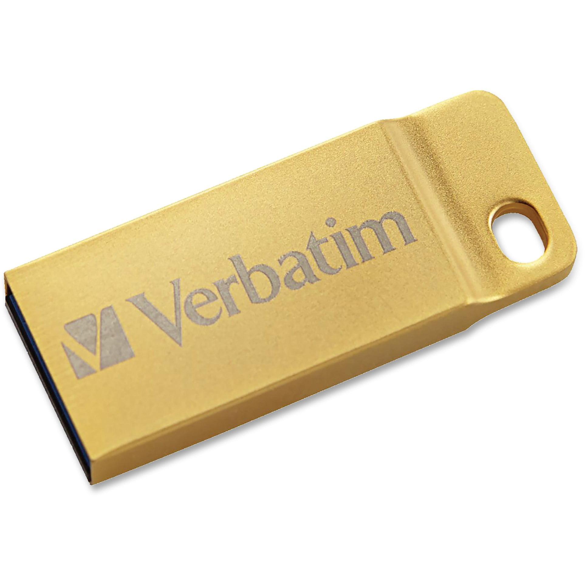 Verbatim, VER99106, Metal Executive USB 3.0 Flash Drive, 1 / Each, Gold