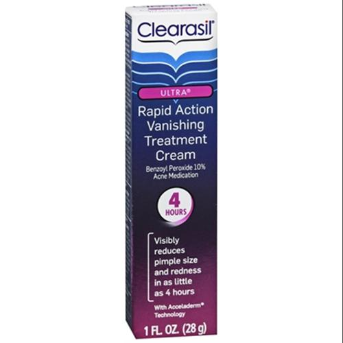 Clearasil Ultra Rapid Action Treatment Cream Vanishing 1 oz (Pack of 2)