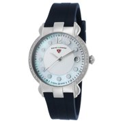 Swiss Legend 16591Sm-02-Bls Layla Diamond Blue Silicone White And Mop Dial Ss Watch